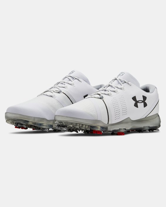 Men's UA Spieth 3 Wide 2E Golf Shoes, White, pdpMainDesktop image number 4