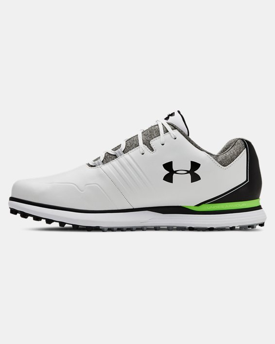 Men's UA Showdown SL Wide E Golf Shoes, White, pdpMainDesktop image number 1