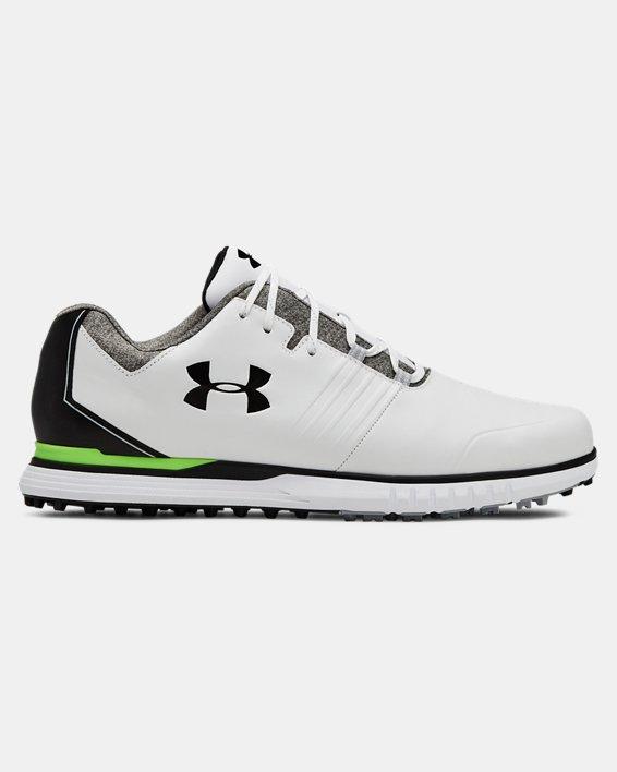 Men's UA Showdown SL Wide E Golf Shoes, White, pdpMainDesktop image number 0