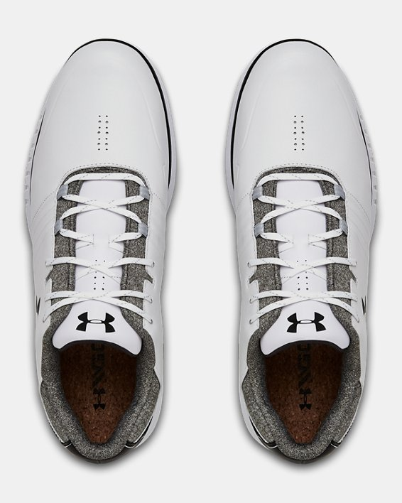Men's UA Showdown SL Wide E Golf Shoes, White, pdpMainDesktop image number 3