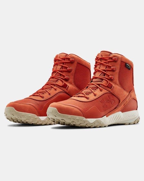 Men's UA Valsetz Cordura Sportstyle Shoes, Orange, pdpMainDesktop image number 4