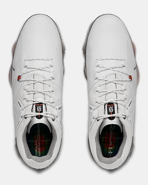 Men's UA Spieth 4 GORE-TEX® Golf Shoes, White, pdpMainDesktop image number 3