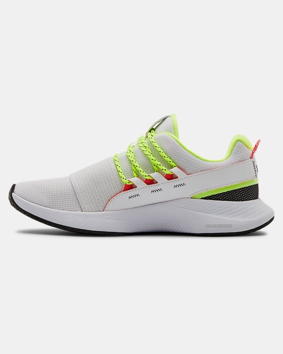 Women's UA Charged Breathe LACE Sportstyle Shoes, White, pdpMainDesktop image number 1