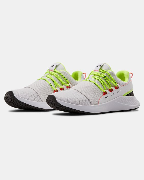 Women's UA Charged Breathe LACE Sportstyle Shoes, White, pdpMainDesktop image number 3