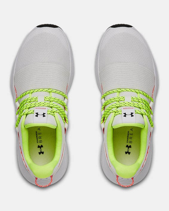 Women's UA Charged Breathe LACE Sportstyle Shoes, White, pdpMainDesktop image number 2