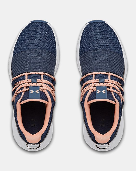 Women's UA Charged Breathe LACE Sportstyle Shoes, Blue, pdpMainDesktop image number 2