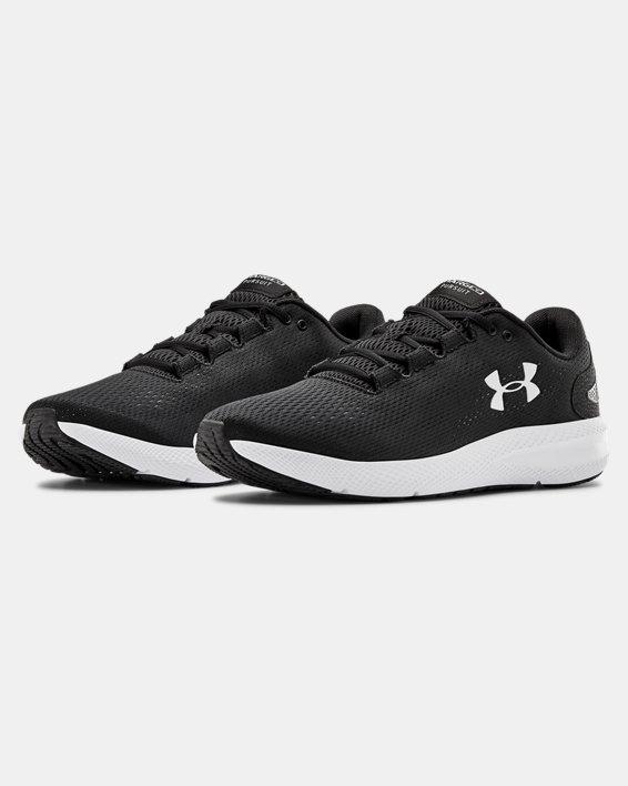 Men's UA Charged Pursuit 2 Running Shoes, Black, pdpMainDesktop image number 1