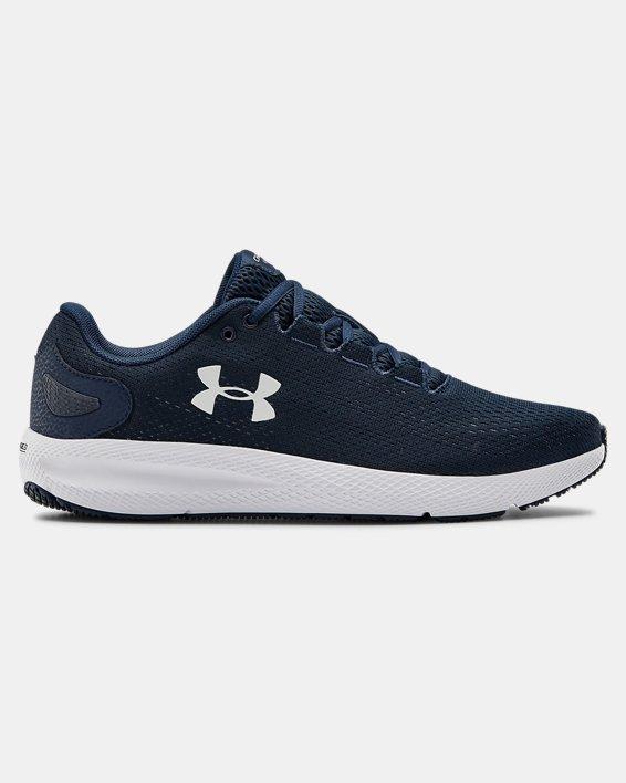 Men's UA Charged Pursuit 2 Running Shoes, Navy, pdpMainDesktop image number 0