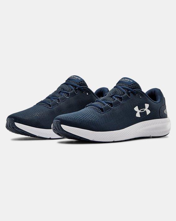 Men's UA Charged Pursuit 2 Running Shoes, Navy, pdpMainDesktop image number 3
