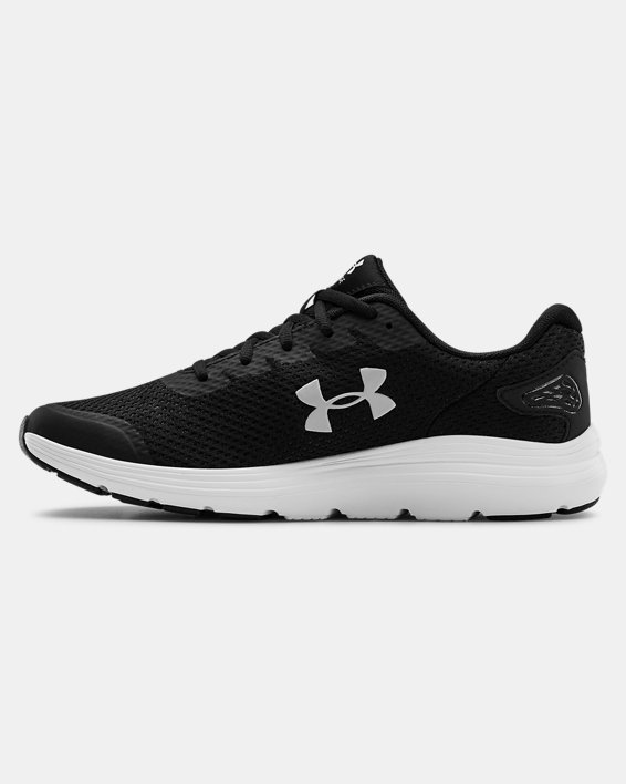 Men's UA Surge 2 Running Shoes, Black, pdpMainDesktop image number 1