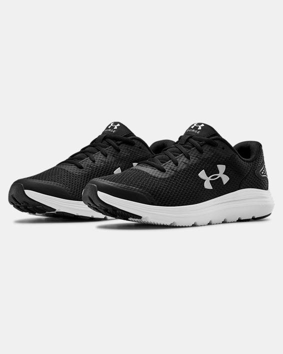 Men's UA Surge 2 Running Shoes, Black, pdpMainDesktop image number 4