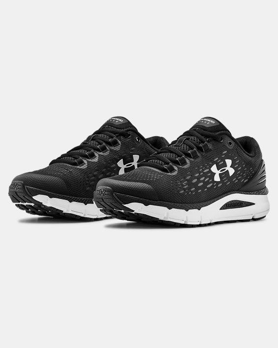 Women's UA Charged Intake 4 Running Shoes, Black, pdpMainDesktop image number 3