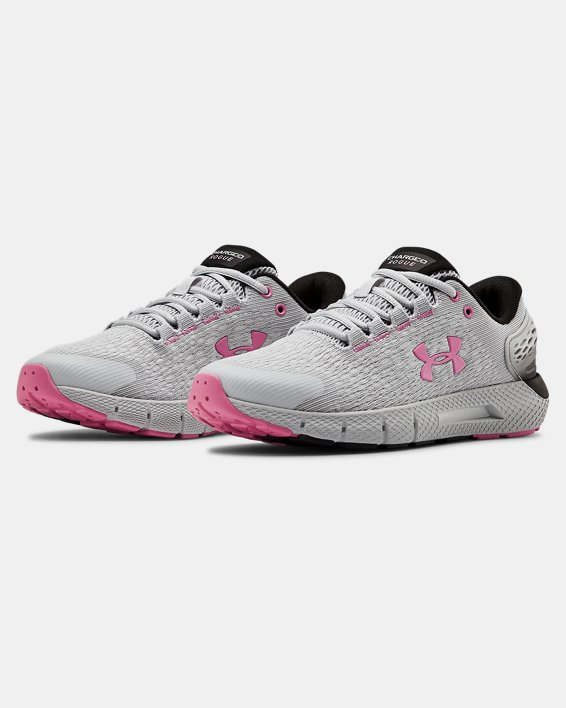 Women's UA Charged Rogue 2 Running Shoes, Gray, pdpMainDesktop image number 3