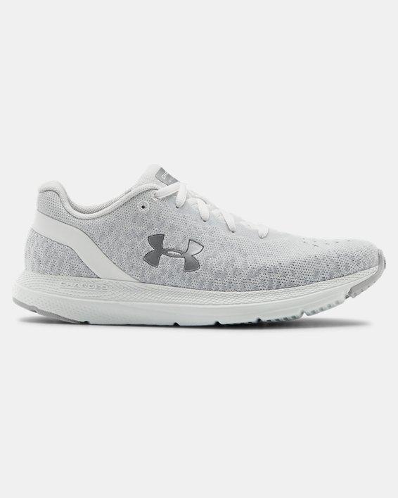 Women's UA Charged Impulse Knit Running Shoes, White, pdpMainDesktop image number 0