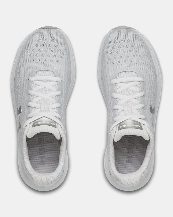 Women's UA Charged Impulse Knit Running Shoes, White, pdpMainDesktop image number 3