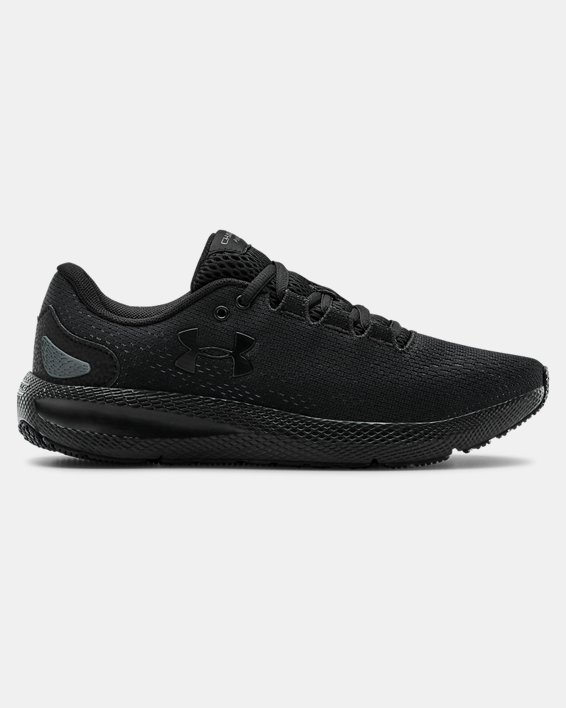 Women's UA Charged Pursuit 2 Running Shoes, Black, pdpMainDesktop image number 0