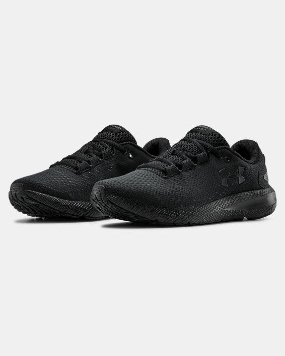 Women's UA Charged Pursuit 2 Running Shoes, Black, pdpMainDesktop image number 3