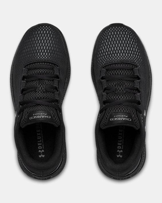 Women's UA Charged Pursuit 2 Running Shoes, Black, pdpMainDesktop image number 2