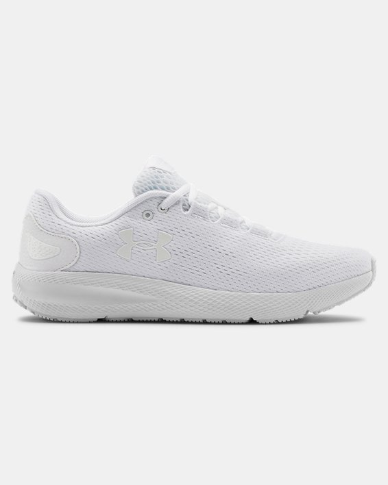 Women's UA Charged Pursuit 2 Running Shoes, White, pdpMainDesktop image number 0