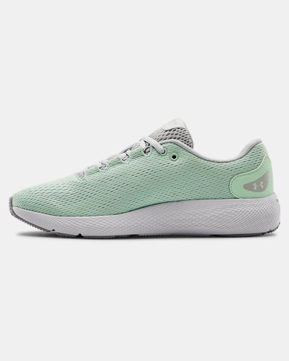 Women's UA Charged Pursuit 2 Running Shoes, Green, pdpMainDesktop image number 1