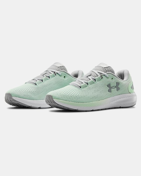 Women's UA Charged Pursuit 2 Running Shoes, Green, pdpMainDesktop image number 3
