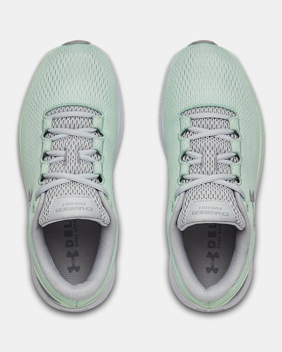 Women's UA Charged Pursuit 2 Running Shoes, Green, pdpMainDesktop image number 2