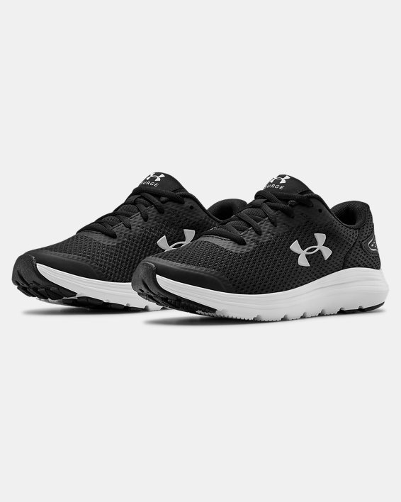 Women's UA Surge 2 Running Shoes, Black, pdpMainDesktop image number 3