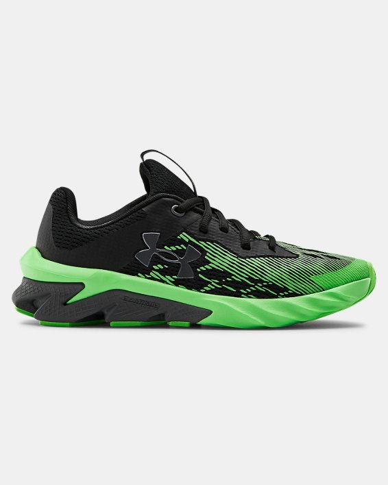 Boys' Grade School UA Charged Scramjet 3 Running Shoes, Black, pdpMainDesktop image number 0