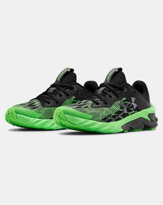 Boys' Grade School UA Charged Scramjet 3 Running Shoes, Black, pdpMainDesktop image number 4