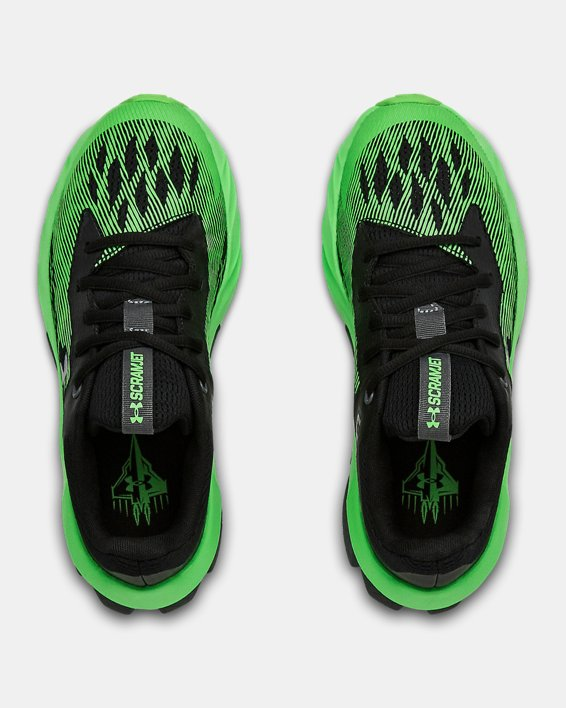 Boys' Grade School UA Charged Scramjet 3 Running Shoes, Black, pdpMainDesktop image number 3