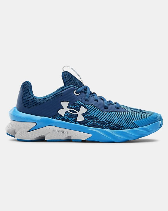 Boys' Grade School UA Charged Scramjet 3 Running Shoes, Blue, pdpMainDesktop image number 0