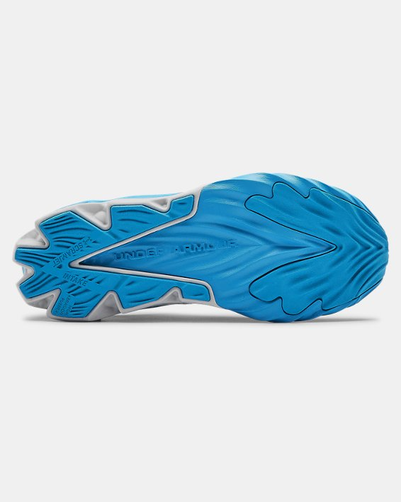 Boys' Grade School UA Charged Scramjet 3 Running Shoes, Blue, pdpMainDesktop image number 2