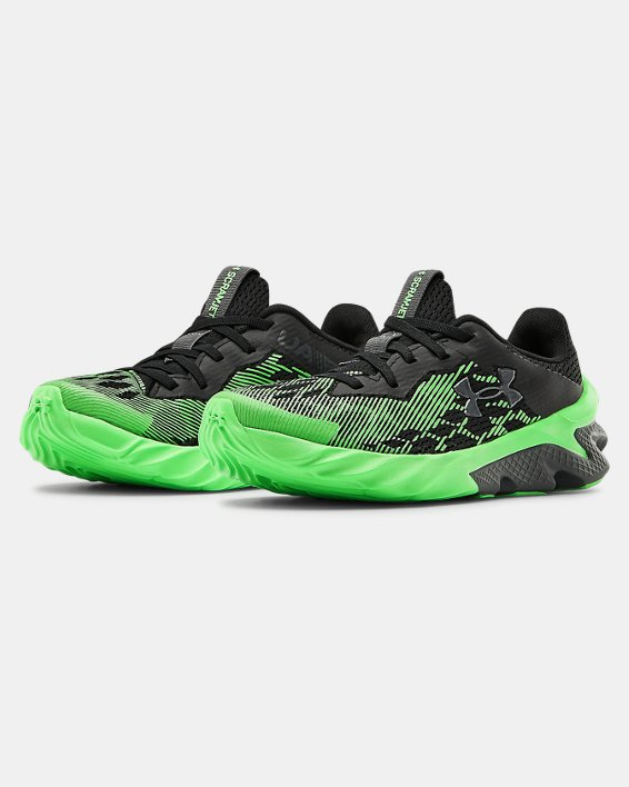 Boys' Pre-School UA Scramjet 3 Running Shoes, Black, pdpMainDesktop image number 4