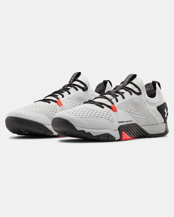 Men's UA TriBase™ Reign 2 Training Shoes, Gray, pdpMainDesktop image number 4