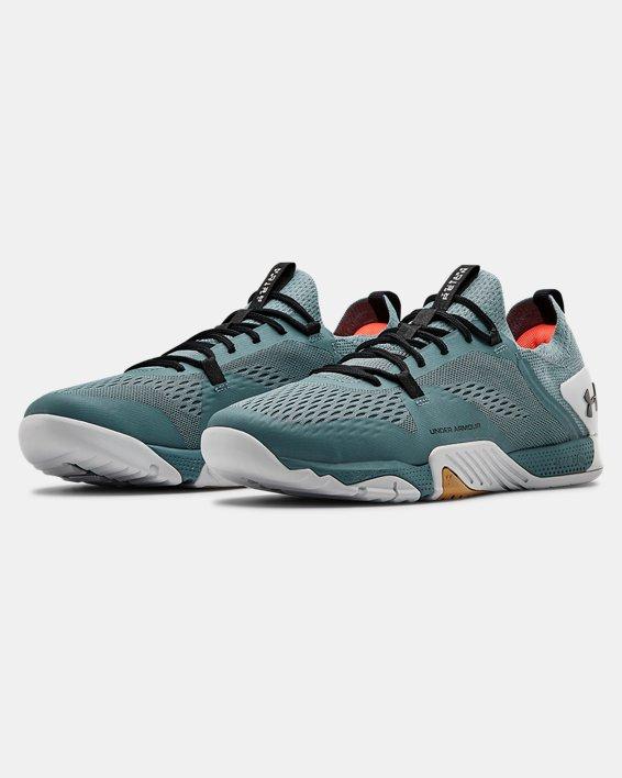 Men's UA TriBase™ Reign 2 Training Shoes, Blue, pdpMainDesktop image number 4