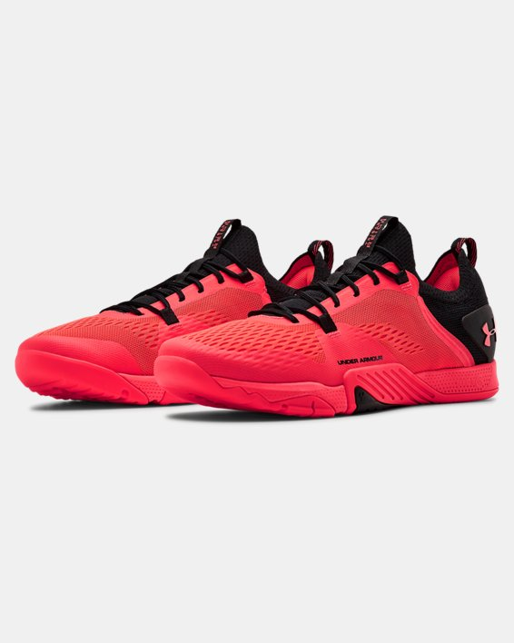 Men's UA TriBase™ Reign 2 Training Shoes, Red, pdpMainDesktop image number 4