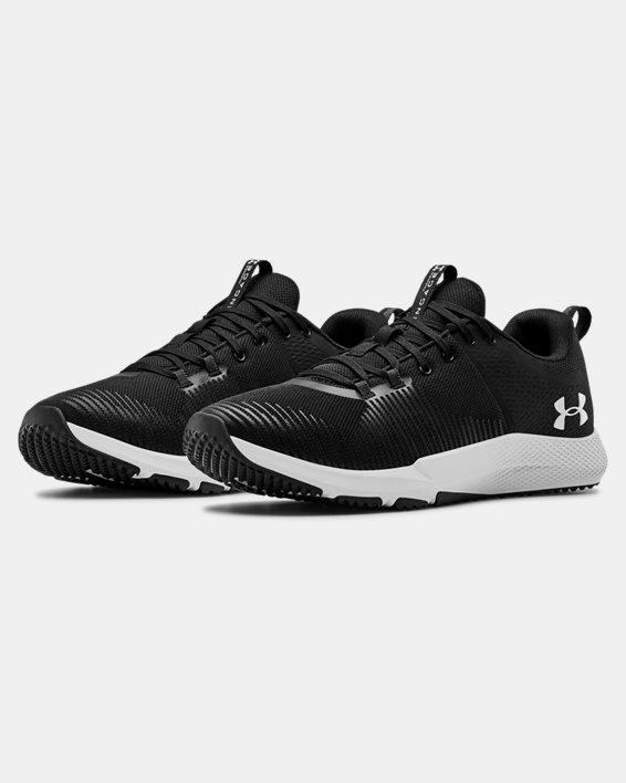 Men's UA Charged Engage Training Shoes, Black, pdpMainDesktop image number 3