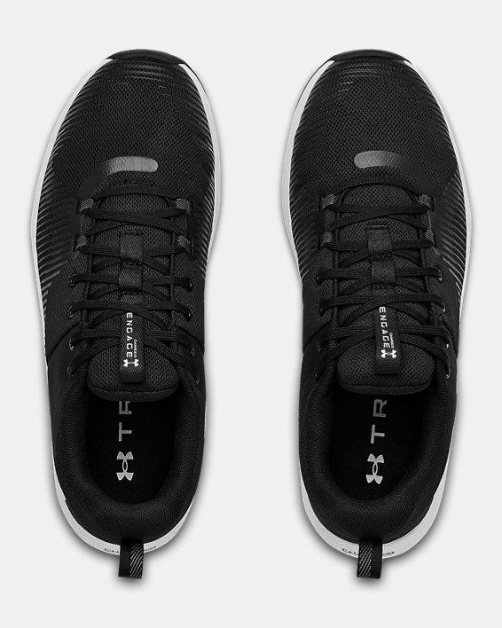 Men's UA Charged Engage Training Shoes, Black, pdpMainDesktop image number 2