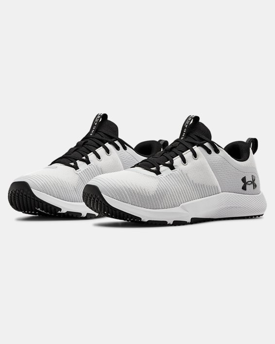 Men's UA Charged Engage Training Shoes, White, pdpMainDesktop image number 3