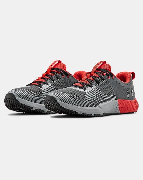 Men's UA Charged Engage Training Shoes, Gray, pdpMainDesktop image number 3