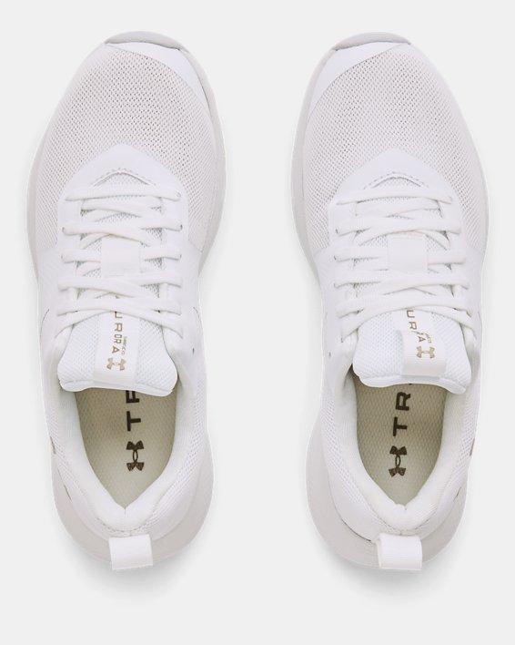 Women's UA Charged Aurora Training Shoes, White, pdpMainDesktop image number 2