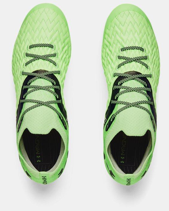 Men's UA Clone Magnetico Pro FG Soccer Cleats, Green, pdpMainDesktop image number 2