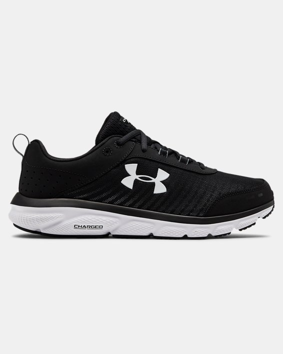 Men's UA Charged Assert 8 Wide 4E Running Shoes, Black, pdpMainDesktop image number 0