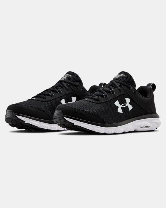 Men's UA Charged Assert 8 Wide 4E Running Shoes, Black, pdpMainDesktop image number 4