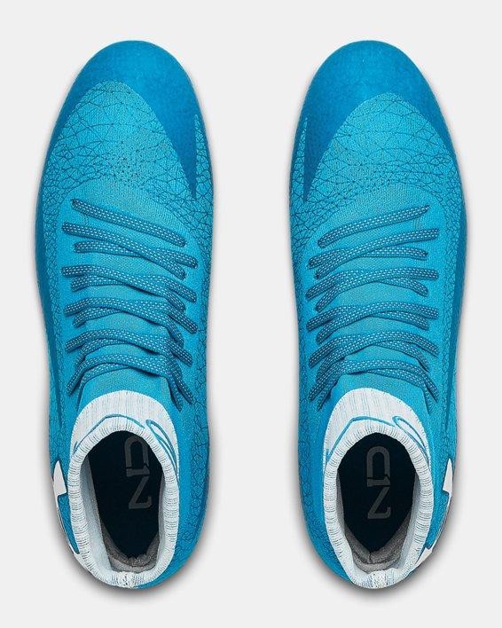 Men's UA C1N MC Football Cleats, Blue, pdpMainDesktop image number 3