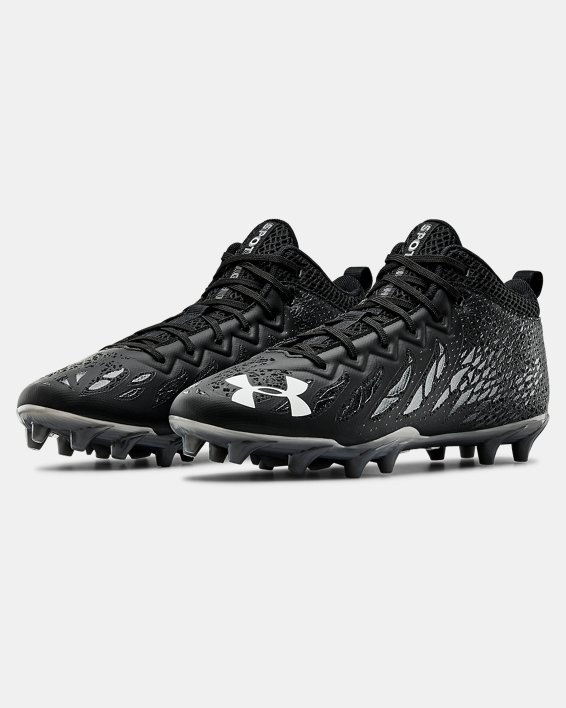 Men's UA Spotlight Select Mid MC Football Cleats, Black, pdpMainDesktop image number 4