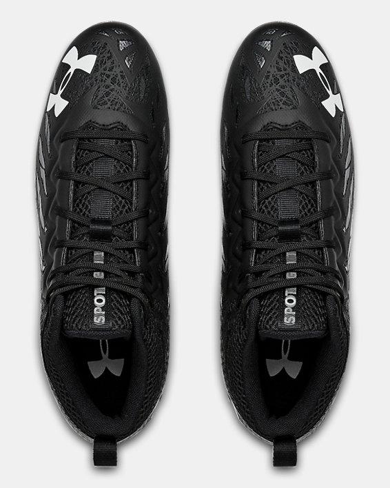 Men's UA Spotlight Select Mid MC Football Cleats, Black, pdpMainDesktop image number 3
