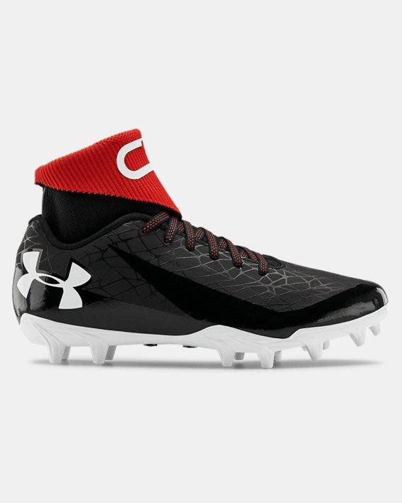Boys' UA C1N MC Jr. Football Cleats, Black, pdpMainDesktop image number 0