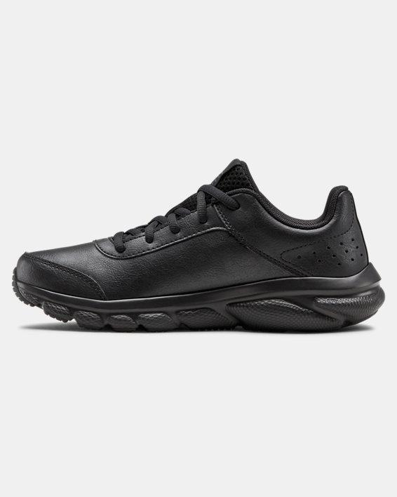 Grade School UA Assert 8 Uniform Synthetic Running Shoes, Black, pdpMainDesktop image number 1