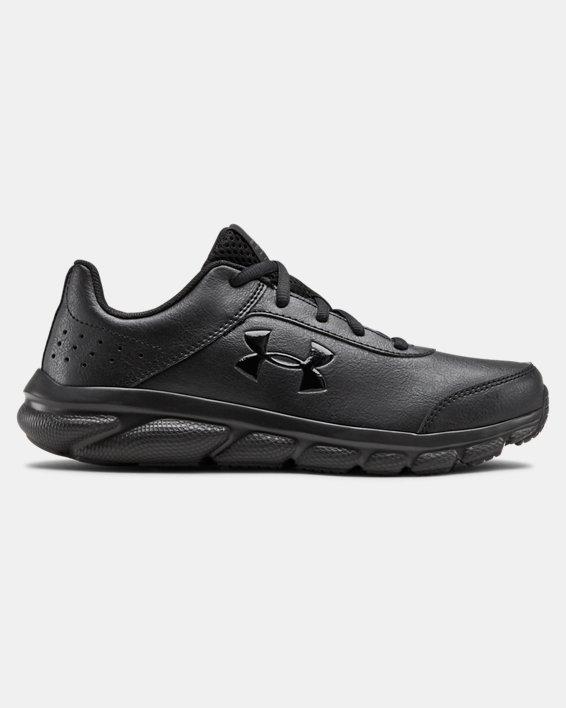 Grade School UA Assert 8 Uniform Synthetic Running Shoes, Black, pdpMainDesktop image number 0